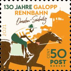 """10er Block Postkarte """"130 Jahre Galopprennbahn"""" - 2021"""